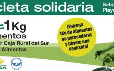 Caja Rural del Sur y Seguros RGA organizan la 'Bicicleta solidaria' este sábado en la playa central de La Antilla