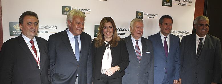 Felipe González considera al sector agroalimentario como estratégico en la economía andaluza y de España