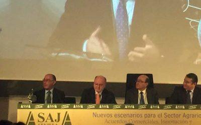 Fundación Caja Rural del Sur colabora en el Premio ICAM 2015 concedido por Asaja al comisario europeo de Acción por el Clima y la Energía, Miguel Arias Cañete