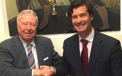 Fundación Caja Rural del Sur y la Confederación de Empresarios de Sevilla, CES, estrechan sus relaciones en apoyo de las empresas de la provincia