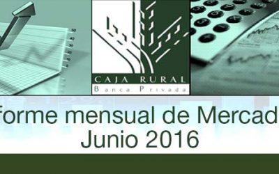 INFORME MENSUAL DE MERCADOS JUNIO 2016