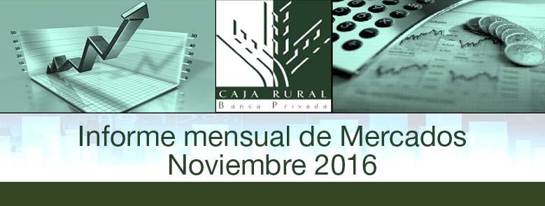 INFORME MENSUAL DE MERCADOS NOVIEMBRE 2016