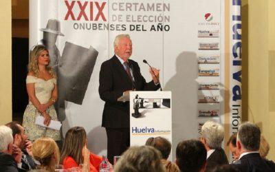 El presidente de la Fundación Caja Rural del Sur, José Luis García Palacios, Premio Especial del Jurado de los Onubenses del Año