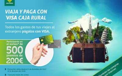 Caja Rural del Sur y Banco Cooperativo sortean 500 premios de 200 euros a los usuarios de la tarjeta VISA en compras en el extranjero