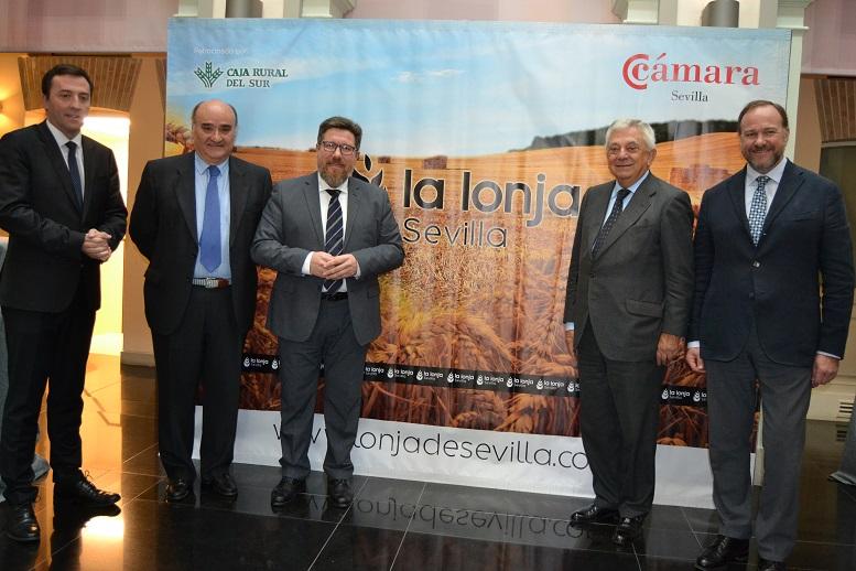 La Lonja de Cereales de Sevilla cumple tres años de actividad con el apoyo de Caja Rural del Sur