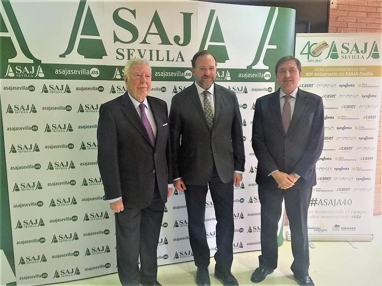 Caja Rural del Sur en el acto de celebración de los 40 años de Asaja Sevilla