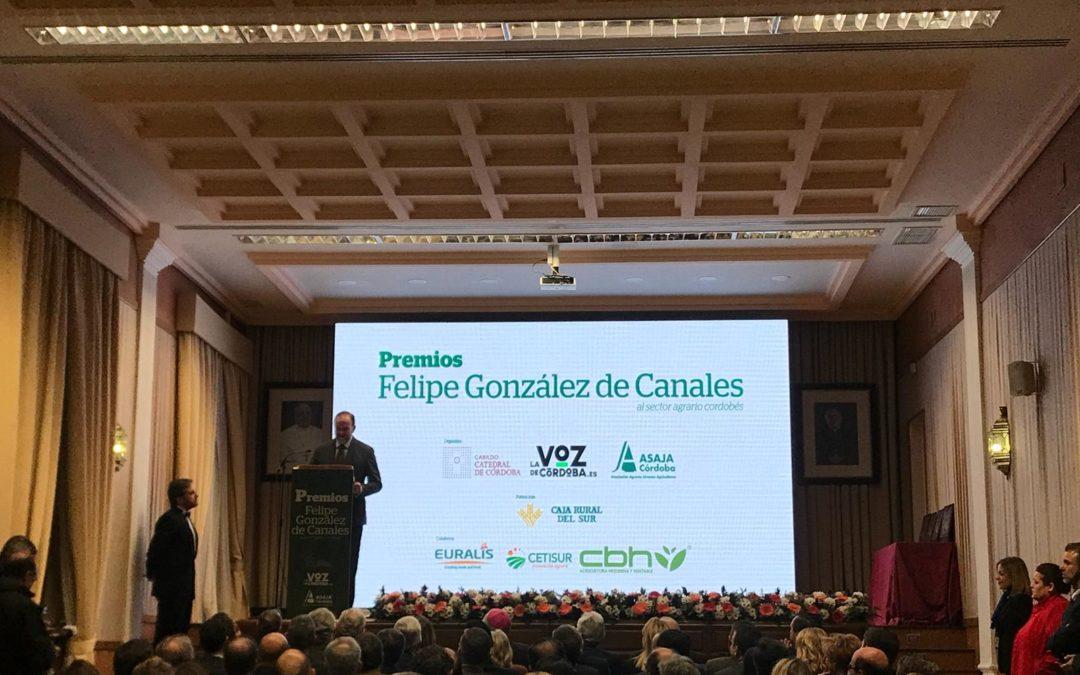 José Luis García Palacios, premio Felipe González de Canales, a título póstumo, por la defensa del cooperativismo