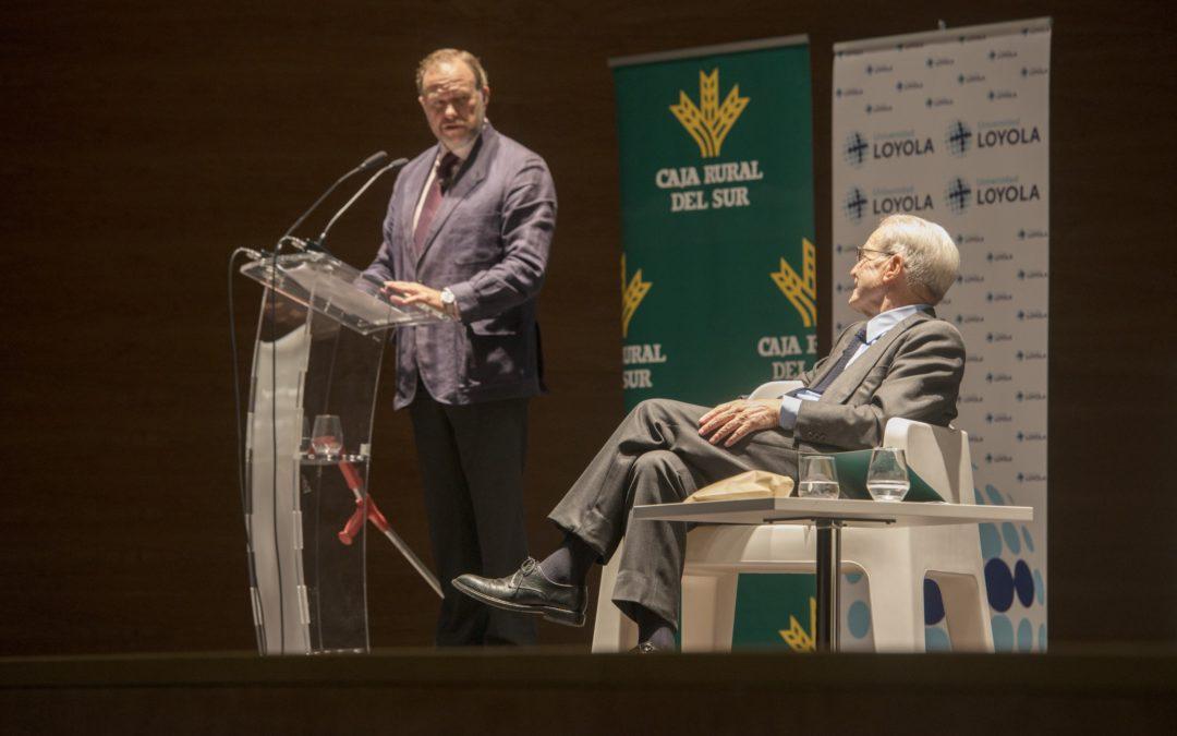"""Encuentro """"Un Café con… Antonio Garrigues Walker"""" organizado por Universidad Loyola Andalucía y Caja Rural del Sur"""
