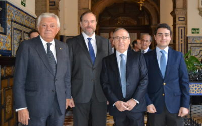 Antonio Hernández Callejas, Presidente de Ebro Foods, en el V Foro Agroalimentario, patrocinado por Caja Rural del Sur