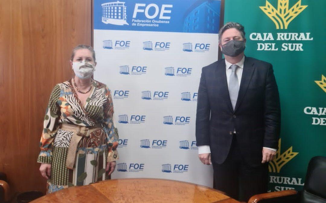 FOE y Caja Rural del Sur colaborarán para impulsar la actividad productiva en Huelva