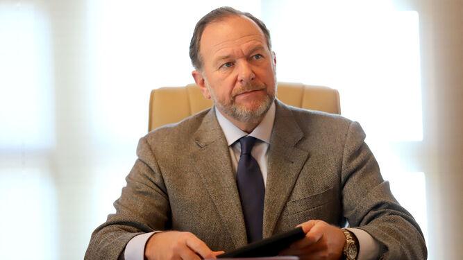 Entrevista sobre los fondos europeos Next Generation EU al Presidente de Caja Rural del Sur, José Luis García-Palacios