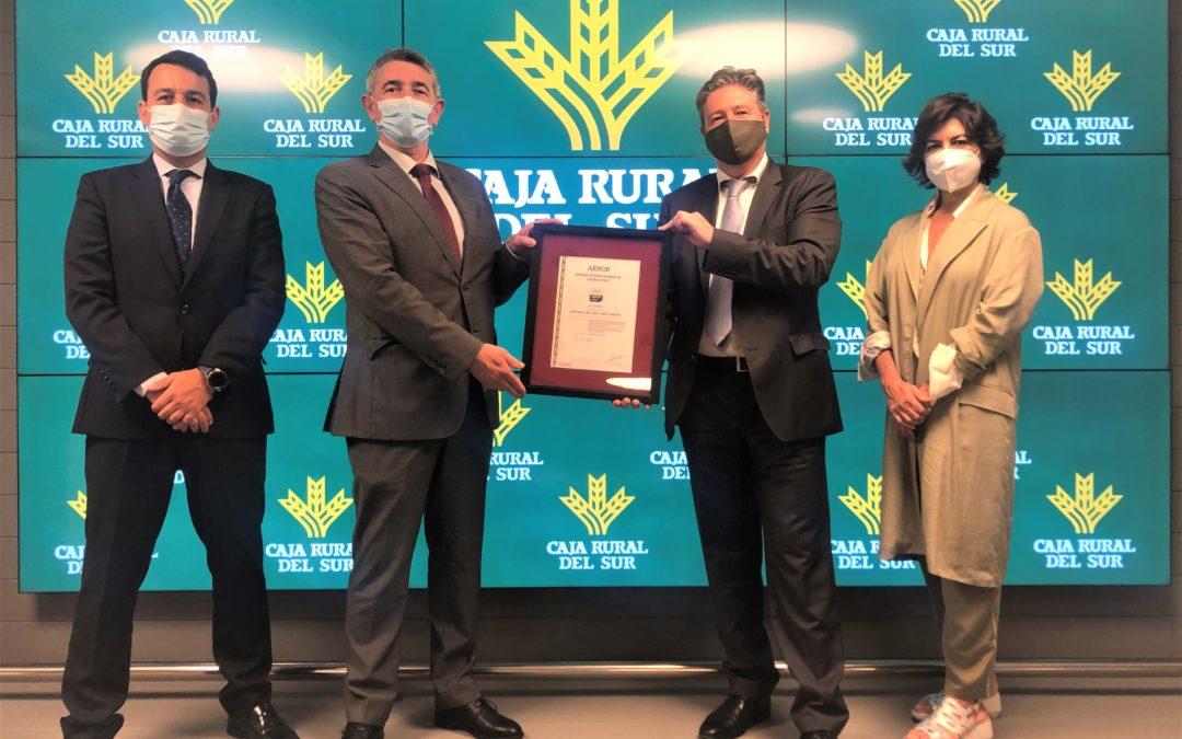 Caja Rural del Sur obtiene la certificación de AENOR en su sistema de Compliance Penal