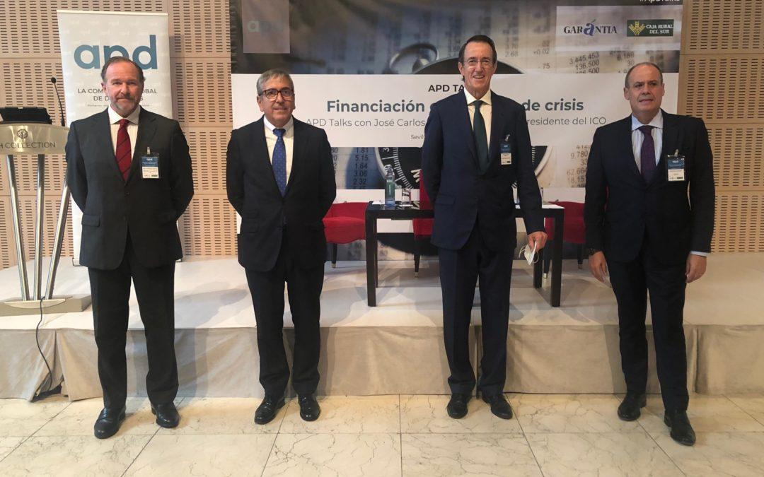 Caja Rural del Sur participa en el encuentro de APD Sur con el Presidente del ICO, José Carlos García de Quevedo